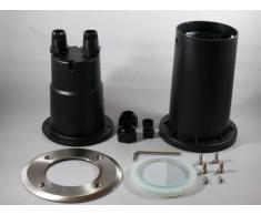Bodeneinbauleuchte Calypso - Foco led empotrable para suelo (redondo, halógeno, 5 W, 230 V, casquillo GU10, 450 lúmenes, luz blanca cálida, 2 unidades)