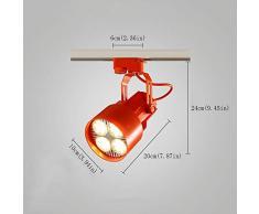 ZHAO YELONG Focos De Techo Industriales Focos Retro Tienda De Ropa Iluminación De Rieles Focos LED Iluminación De Rieles Comerciales Sala De Estar Iluminación De Pared (Color : Red)