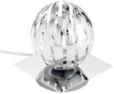 Trio 594010106 Serie 8140 - Lámpara de sobremesa con base espejo, bombilla incluida, G9, Halógeno, 28 W, 370 lm, 2800 K, 230 V, C, IP20, 15 x 13 x 13 cm, metal, cromo
