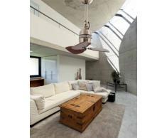 Faro Barcelona 33450 - VEDRA Ventilador de techo sin luz, aluminio y palas madera mdf