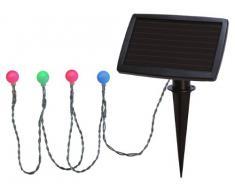 Best Season 477-59 - Guirnalda solar con bolas de luz led (20 bombillas, con panel solar para invierno y batería, para exteriores, 2,7 m), multicolor