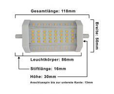 Foco LED 14 W R7s 118 mm regulable luz blanca cálida Bombilla Lámpara un J118 halógena Flood luz lámpara bombillas