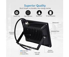 CSHITO Foco LED 30W,2100 lm, Iluminación interior exterior,Impermeable IP65,Foco proyector LED ,Blanco cálido