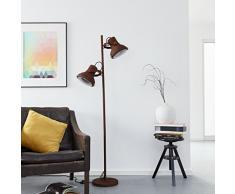 Lámpara de pie, 2 puntos de luz, 2 x E27 Max. 60 W, metal, óxido/negro