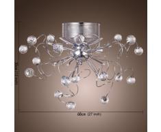 ALFRED Modern araña de cristal con 9 luces (acabado cromado),Techo luz,montaje empotrado,Bedroom, Living Room