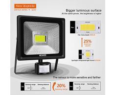 MEIKEE Foco LED Exterior con Sensor de Movimiento 50W, Luz LED Iluminación Super Brillante 6500K, Lámpara Exterior IP66 Impermeable para Jardín, Patio, Camino, Yarda