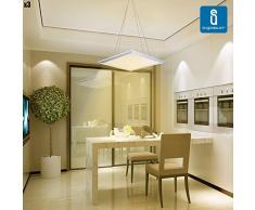 Aigostar pack de 3 LED E5 40W - Panel LED, encastrable de techo forma cuadrada, luz natural de 4000K, longitud 595 mm