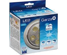 Garza Lighting - Foco Downlight LED empotrable de alta potencia 9W , luz cálida 2700K