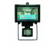 Electraline 63004 - Proyector halógeno con sensor de movimiento (IP44, 1500 lúmenes, 120 W) color negro