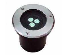 Ledbox LD1021102 Foco para empotrar suelo exterior Biger LED 3W, blanco frío