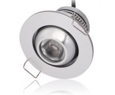 Lighting EVER® Iluminación LED Descendente de 1W, Equivalente a una Bombilla Halógena de 10W, Luces Empotradas, Blanco Cálido