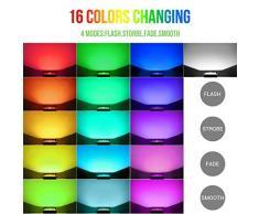 LE Foco proyector RGB Exteriores 30W LED, Multicolor, Resistente al agua IP66