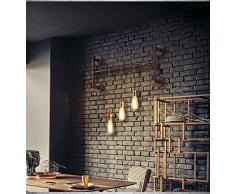 kinine Decoración Industrial simplicidad Edison Mini pared de cristal apliques de pared Vintage Lámpara Luz de forma Exterior rústico Lámparas de pared 039