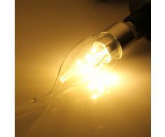 SODIAL (R) E14 6 5630 SMD LED lampara bombilla vela Lampara de bajo consumo Blanca Calida luz 3W