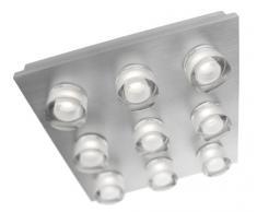 Philips 372464813 - Lámpara de techo LED con atenuación, 9 bombillas