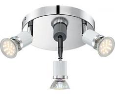 globo 57996-3 GU10 LED lámpara de techo Fina, cromado blanco