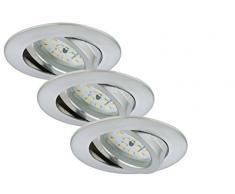 Briloner Leuchten luz LED empotrada, conjunto de 3, 3 x LED-módulo 5 W, aluminio 7209-039