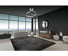 Led Decore COMET - Lámpara colgante, aluminio, 18 W, 40 x 40 x 26 cm, color plata