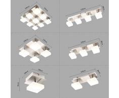 Style Home LED techo lámpara de pared con 3 puntos de luz giratoria SD-8138C - 3C luz blanca cálida
