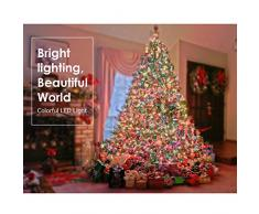 MoKo Cadena de luces LED, Luces impermeable 100 bombillas y 10m Líneas Transparentes de PVC, Para La Decoración del Partido de Dormitorio, Fiesta, Navidad y cumpleaños o boda?Árbol de Navidad-Colores