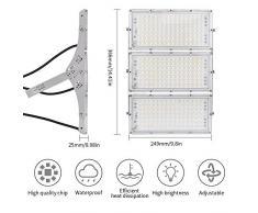 Viugreum 300W Foco Led Exterior,Reflector LED Blanco frío, 24000LM, Iluminación Industriales IP65, Foco Para Jardín, Taller,garaje, Fábrica Y Bodega