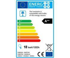 QAZQA Diseño / Moderno / Lámpara de arco ARCADIA negra Metal Alargada Incluye LED Módulo LED Max. 1 x 18 Watt