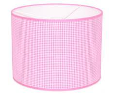 Taftan - Pantalla para lámpara de techo colgante (35 cm de diámetro, tamaño pequeño), diseño de cuadros de 3 mm, color rosa