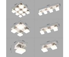 Style Home LED lámpara de techo lámpara de techo lámpara de pared 1 foco giratorio SD-8138C - 1C luz blanca cálida