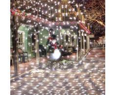 Funnyrunstore LED blanco frío Nevadas las luces del proyector al aire libre/cubierta del paisaje Focos,negro