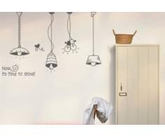 Vinilo decorativo pegatina pared, cristal, puerta (Varios colores a elegir)-lamparas