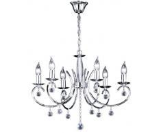 Honsel Leuchten 11016 - Lámpara de techo (cromo y cristal)