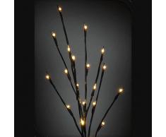 Rama de árbol de Navidad con iluminación LED de luz blanca cálida de 66 cm