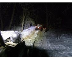 Foco de trabajo - Barra LED CREE 120w y 27,9 cm de largo, y 9000 lumens para tractores, camiones, barcos, resistente al agua