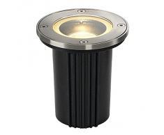 Exacto DASAR GU10 lámpara redonda de acero interiores suelo s 316 35 W 228430 SLV