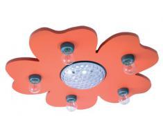 Niermann Standy Happy-Flower 775 - Lámpara de techo (LED, con proyector de cambio de color, con control a distancia), color naranja