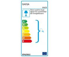 QAZQA Moderno Plafón ROTTERDAM acero Vidrio / Acero inoxidable / Rectangular Adecuado para LED E27 Max. 1 x 60 Watt