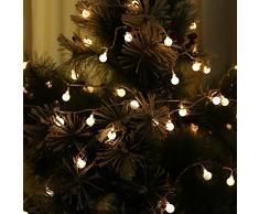 Wuiyepo 5M 220V- LED con forma de bola de luz de hadas cadena Luces de Navidad decoracion