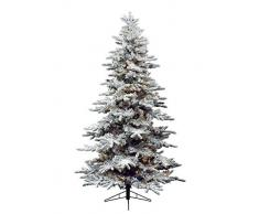 Kaemingk 678451 Snowy Alaskan Fir - Árbol de Navidad artificial con luces LED (PVC, 180 cm, 288 luces), color blanco