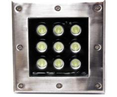 Foco LED de suelo 9W 120mm azul - Cablematic