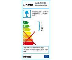 Naeve Leuchten a, – Lámpara LED de techo, aluminio, 12 W, 17 x 17 x 4 cm, blanco cálido 1101726