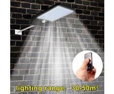 48 LED Solar Power PIR Sensor de movimiento Lámpara calle al aire libre Foco Exterior LED Luces Pared Lamparas (Negro, Containing bracket)