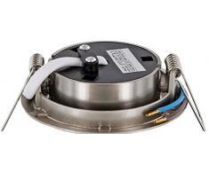 Televisor LED - Foco empotrable (Acero Inoxidable 230 V de hierro cepillado orientable - 4 W 330LM 120 ° - Blanco Cálido (2900 K)