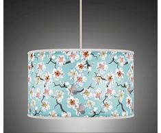 """20 cm (8 """") Floral Azul y Blanco Retro giclée de mano estilo impreso lámpara de tela Pantalla de lámpara suelo techo 506"""