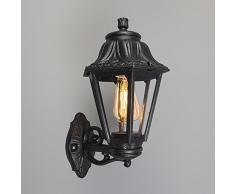 QAZQA Clásico/Antiguo, Rústico Aplique ANNA negro for Outdoor use, Plástico, Otros / Adecuado para LED E27 Max. 1 x 60 Watt