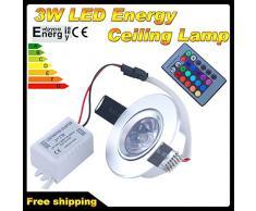 THG 4x 3W RGB LED que cambia de color de la lš¢mpara empotrada en el techo abajo se enciende + IR de control remoto