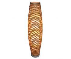 Lámparas de Pie Lámpara Vertical Piso Lámpara de pie de bambú del Estilo japonés del sudeste asiático Jardín Moderno salón Dormitorio de Estudio Lámpara de bambú (Color : Natural)