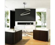 Mantra Igan - Lámpara de techo Led colección Nur, 30 watios 3000K, color Gris Plata.