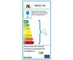 Reality R82221187 Metz - Foco, bombilla incluida, E14, LED, 4 W, 320 lm, 3000 K, 230 V, A+, IP20, 12,5 x 12 cm, diámetro 8 cm, metal, titán