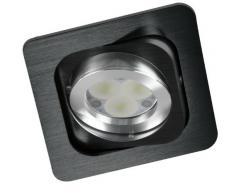 CristalRecord 03-011-00-003 - Foco empotrable double aluminio, cuadrado, doble basculación, 30° + 35°