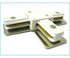 Conectores para uniones de raíles de focos LED Un binario Modelo T Color Blanco